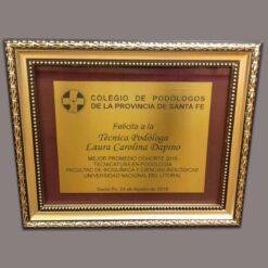 Cuadro marco con vidrio santa fe