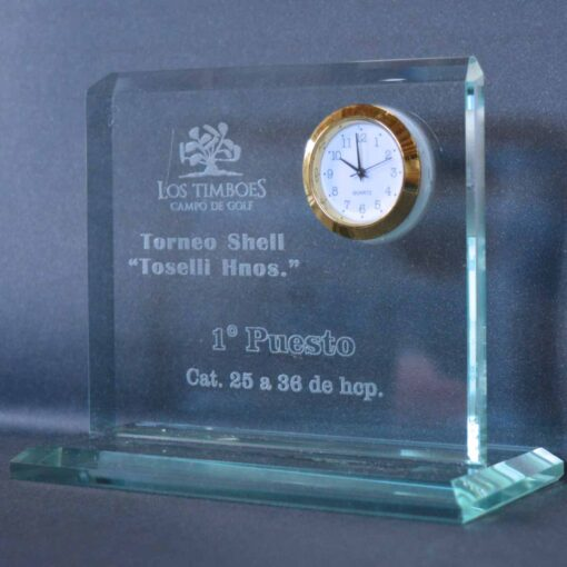 Tributo cristal con reloj inserto 10 mm